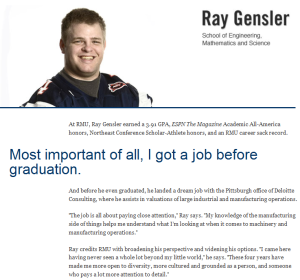"Ray's ""Faces of Success"" profile"