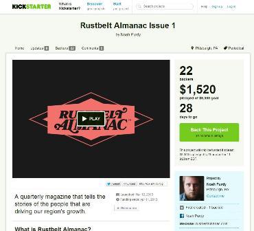 Rustbelt Almanac Kickstarter