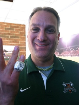 Bill shows off his boss's World Series ring