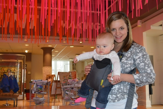 Miranda with daughter Ava at the Pittsburgh Children's Museum